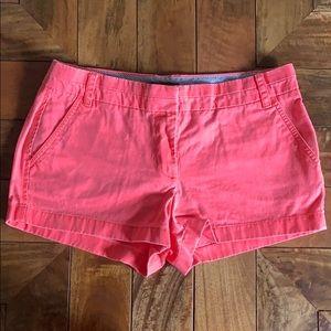 J. Crew pink chino shorts